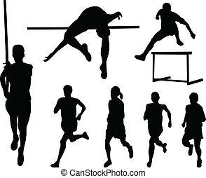 athlétisme, collection, silhouette