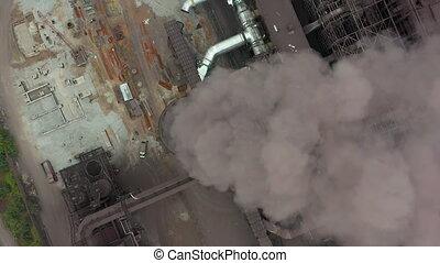 atmosphère, écologie, pollution, polluer, industrie, fumée, fumée, stacks., canaux transmission