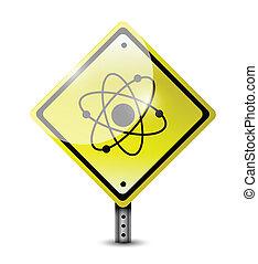 atome, conception, illustration, signe