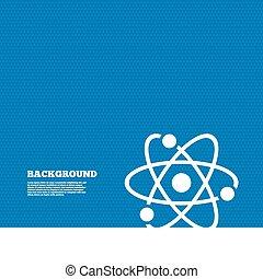 atome, icon., partie, symbole., signe