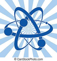 atome, symbole, science, résumé, vecteur