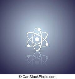 atome, vecteur, icône