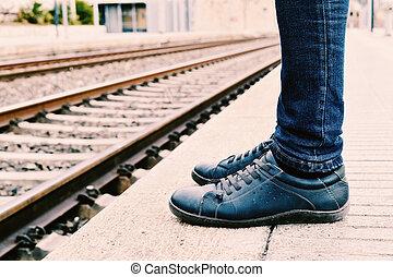 attente, train