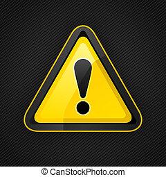 attention, métal, surface, signe, avertissement, danger