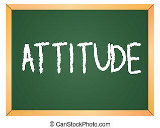 attitude, mot, tableau