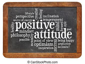 attitude positive, concept, tableau noir