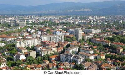 au-dessus, bulgarie, plovdiv, panorama