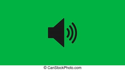 audio, animation, musique, icon., 4k., orateur, son