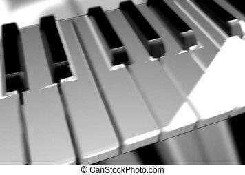 audio, clés, piano
