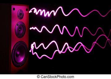 audio, orateur, effet