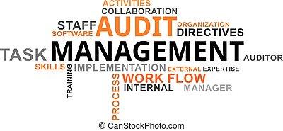audit, mot, gestion, -, nuage