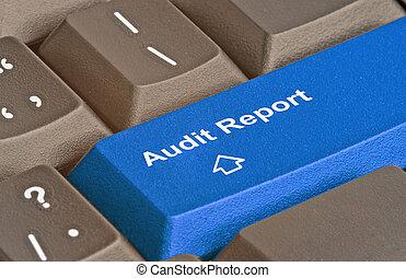 audit, rapport, clã©, clavier