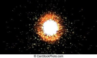 aura, brûler, explosion espace, &