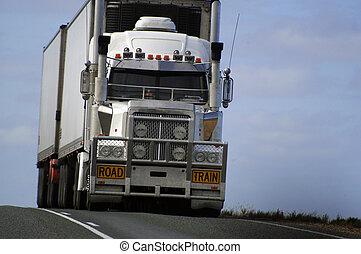 australie, route, transport