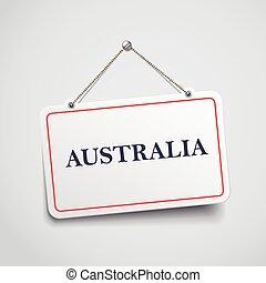 australie, signe, pendre