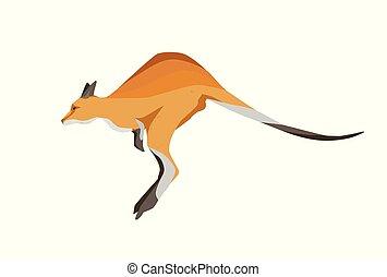 australien, vecteur, animal