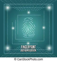 authentication, empreinte doigt, technologie, connexion, numérique