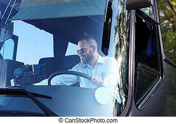 autobus, driver.