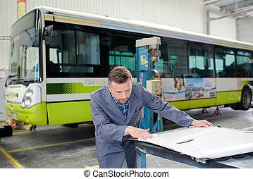 autobus, usine