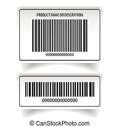 autocollant, barcode, ensemble, étiquette