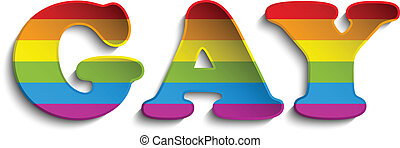 autocollant, cercle, rayé, drapeau, gay