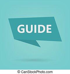 autocollant, guide