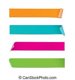 autocollants, coloré, (vector)