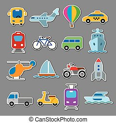 autocollants, transport