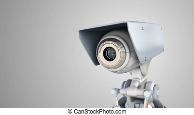 automatisé, appareil photo, surveillance