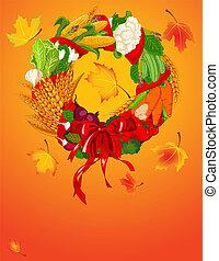 automne, accueil, récolte