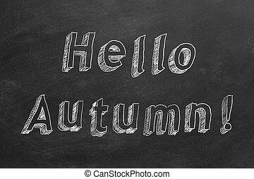 automne, !, bonjour