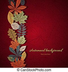 automne, clair, vecteur, fond