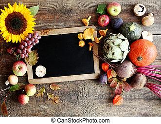 automne, légumes frais, fruit