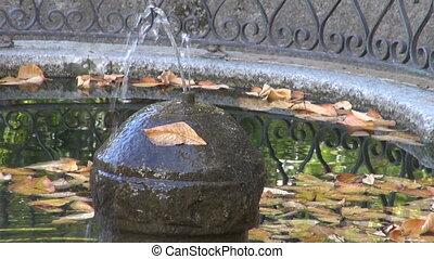 automne, parc fontaine, madrid