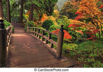 automne, pont