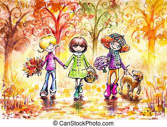 automne, promenade