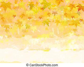 automne, texte, fond, espace