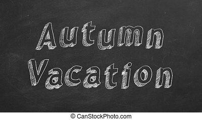 automne, vacances