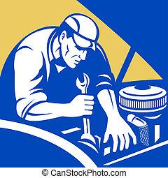 automobile, mécanicien voiture, réparation