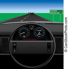 automobile, tableau bord