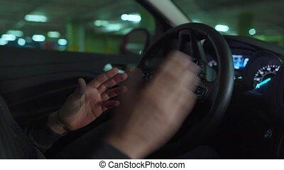 autopilot, conduite, homme, self-parking, innovateur, lot, stationnement, utilisation, voiture, automatisé