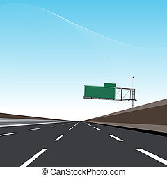 autoroute, vide