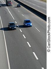autoroute, voitures