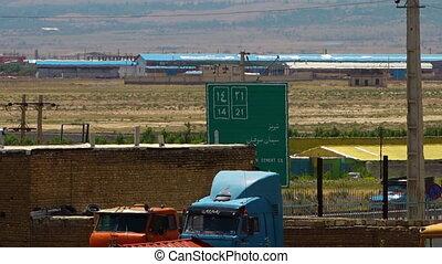 autoroutes, azerbaïdjan, panneaux signalisations