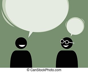 autre., deux, conversation, chaque, amis, consentir, homme