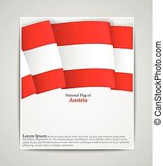 autriche, drapeau national