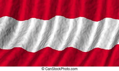 autriche, fond, faire boucle, drapeau