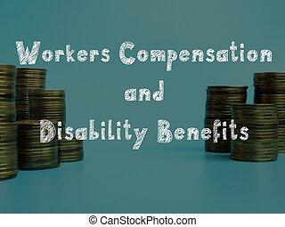 avantages, ouvriers, concept, carrière, inscription, compensation, sheet., incapacité, sur