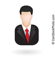 avatar, homme affaires, avocat