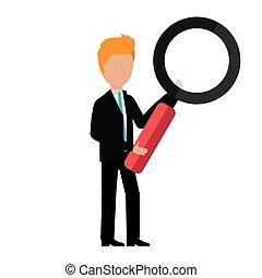 avatar, homme affaires